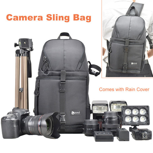 Lightpro Camera Sling Bag Shoulder Cross Digital Case Waterproof Camera Sling Soft Men Women Bag for Canon Nikon Sony