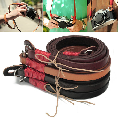 Superior Cowhide Camera Strap Handmade Genuine Leather