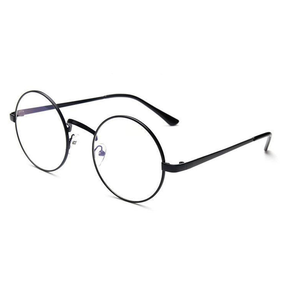 Unisex Classic Metal Framed Rounded Glasses