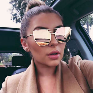 Women's Vintage-Style Irregular Mirrored Sunglasses