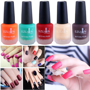 18ml Matte Dull Nail Polish Fast Dry Long Lasting Nail Art Matte Nail Polish Gel