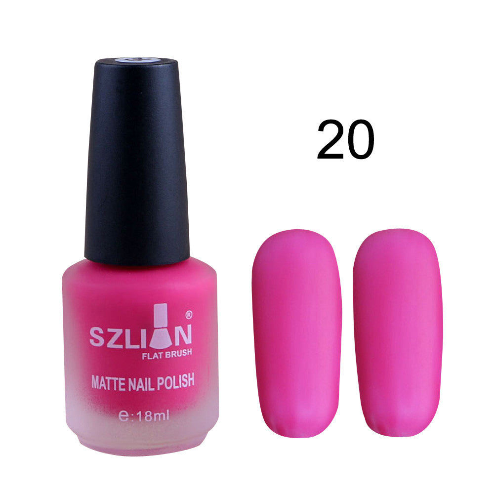18ml Matte Dull Nail Polish Fast Dry Long Lasting Nail Art Matte ...