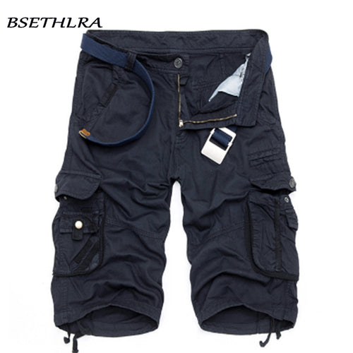 BSETHLRA 2018 New Shorts Men Summer Hot Sale Work Short Pants Camouflage Military Brand Clothing Fashion Mens Cargo Shorts 29-40