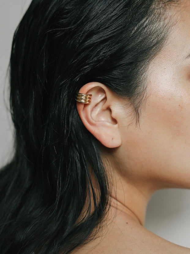 Juno triple ear cuff in gold