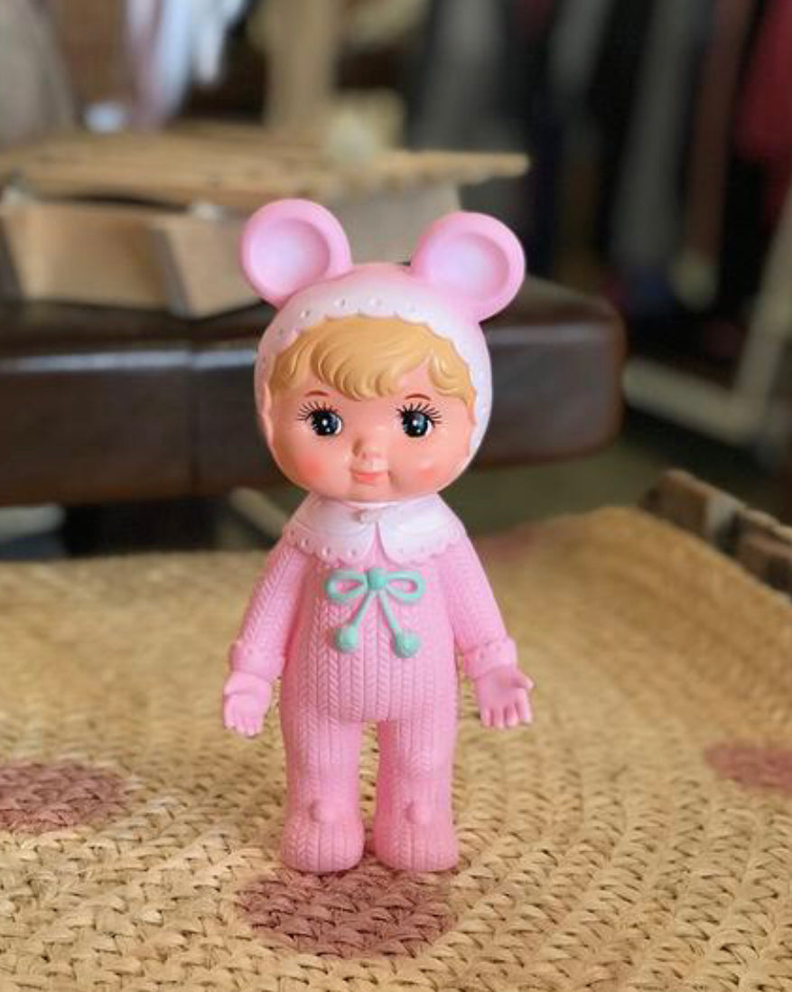 Lapin and Me Blonde woodland Doll - cherry pale Pink