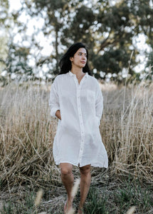Naomi White Shirt Dress by METTA MELBOURNE