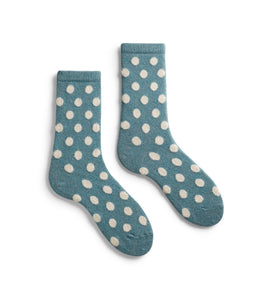 Classic dot cashmere blend socks by Lisa.b