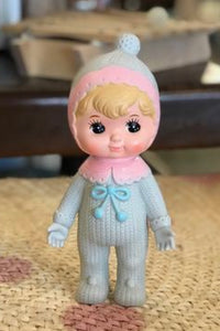 Lapin and Me Blonde woodland Doll - bobble grey
