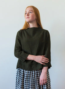 Emma top in Winter Moss by METTA MELBOURNE