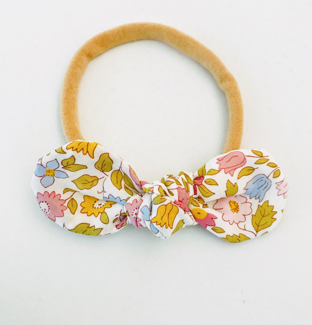 Soonca Liberty fabric soft, comfortable and stretchable baby headband.