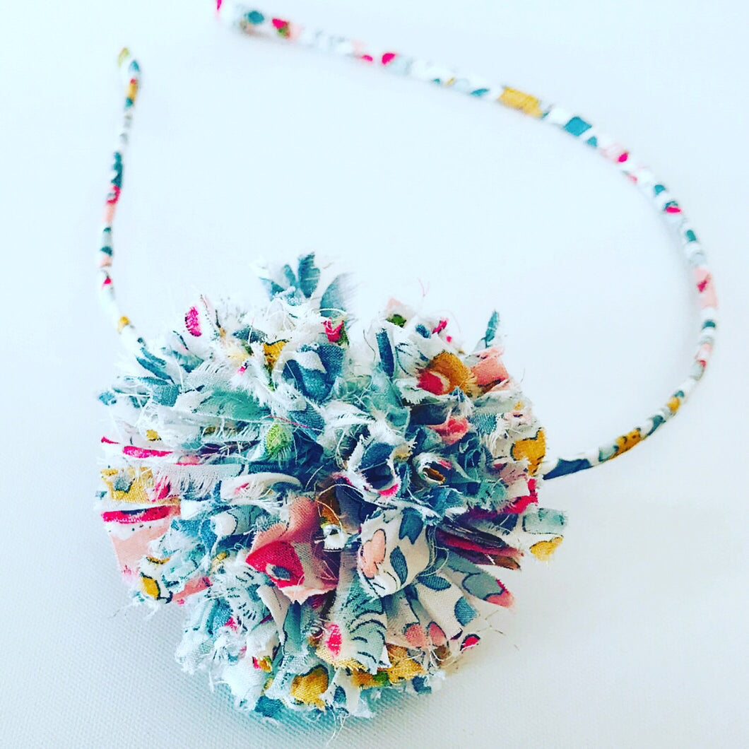 Liberty fabric Pom Pom headband