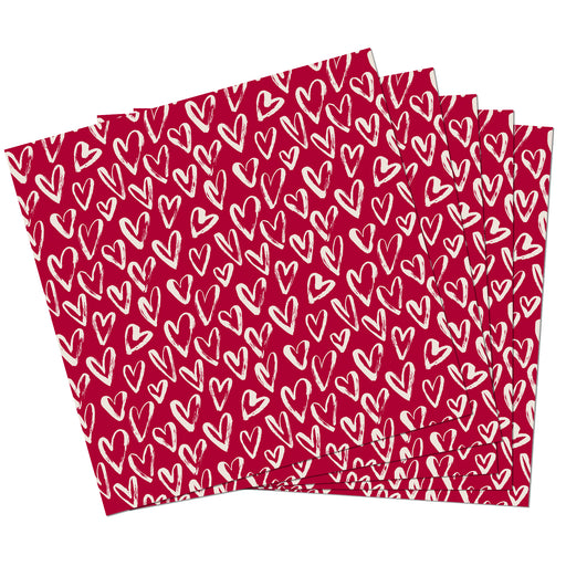 Servetten 20st Red Hearts