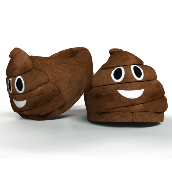 Poo Emoticon Plush Indoor Slippers