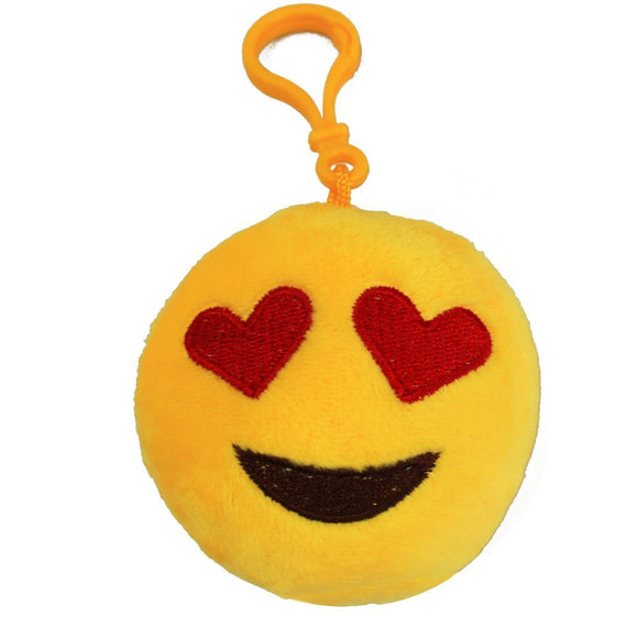 Heart-Eye Lovely Mini Emoji Key Chain