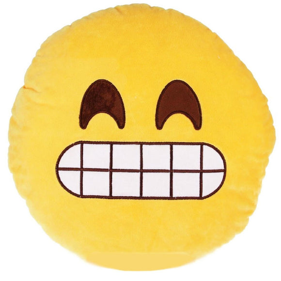 Yellow Round Smile Cheese Emoticon Cushion