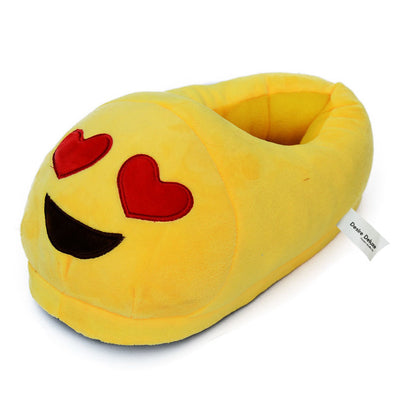 Heart Eye Emoticon Indoor Slippers