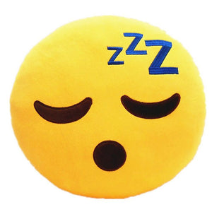 Sleeping Yellow Round Emoticon Pillow