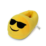 Emojis Slippers Sunglasses Novelty Unisex Adult Emoti Sunglasse Plush Indoor Slippers One Size 5-8.5
