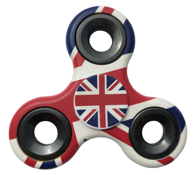United Kingdom Flag Tri Fidget Spinner Hand Finger Toy