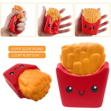 Burger, Chips and PopCorn Pack Squishy Cushion