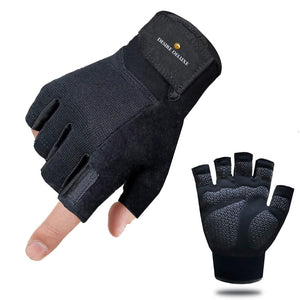 Desire Deluxe Unisex Workout Gloves, Best Exercise Gloves for Weight Lifting, Cycling, Gym, Training, Breathable & Snug fit