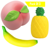 Squishies Pack Slow Rising Squishy Toys Scented Squishy Squeeze Toy for Kids -Peach Banana Pineapple