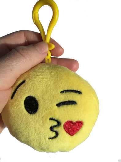 Throwing Kiss Mini Emoticon Key Chain