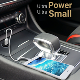 Dual USB Car Charger Mini Adapter 2-in-1 Portable Charge Plug-In Smartphones Tablets USB-Powered Dev