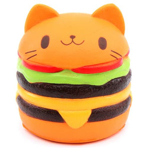 Slow Rising Kawaii Jumbo Cat Burger Squishy
