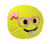 Smiley Yellow Round Shape Emoticon Cushion