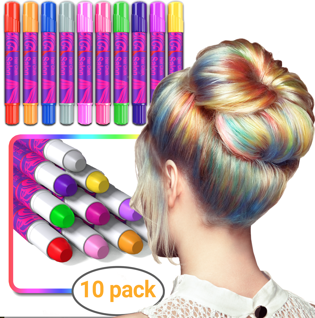 Christmas Gifts For Girls Age 9 10.Desire Deluxe Girls Gifts Hair Chalk Gift For Girls 10