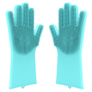 Desire Deluxe Magic Silicone Gloves Dishwashing Glove Scrubber for Washing Dish, Kitchen, Bathroom