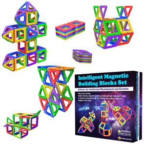 Desire Deluxe Magnetic Building Blocks 40pc Construction Toys Set for Kids Game | STEM Creativity Educational Magnets Toy Blocks for Boys Girls Age 3 4 5 6 7 Year Old
