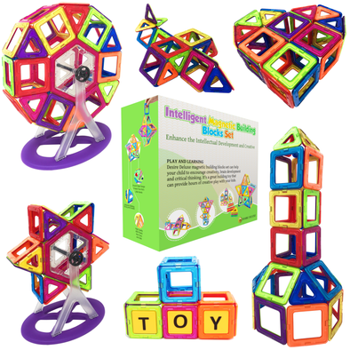 Magnetic Building Blocks Educational Gift 94PC Kids Magnetics Construction Block Games Creativity