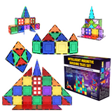 Magnetic Tiles Building Blocks Construction Toys 47pc STEM Learning Educational Toy for Kids