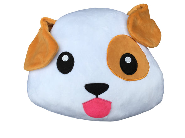 Dog Puppy Happy Face Emoticon Cushion