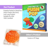 Pop It Fidget Toys Pack for Kids - Sensory Anxiety Stress Relief Push Pop Autism Toy