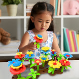Flower Build A Garden Toy Building Blocks Set for Baby, Children - Indoor & Outdoor Floral Arrangement for Kids 54pc