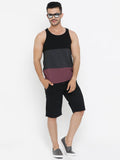 Color Blocked Sleeveless Tshirt