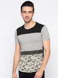 Colorblocked Camo Black and Grey Tshirt