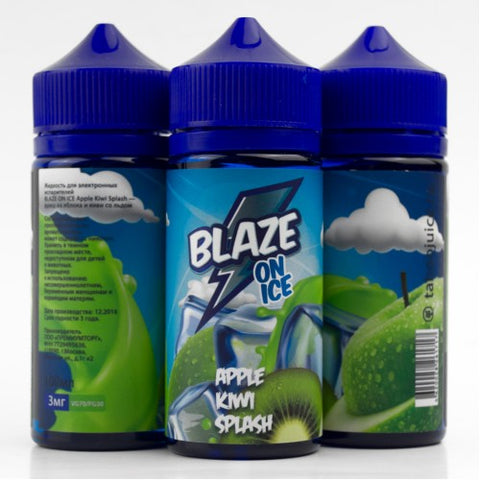 BLAZE ON ICE Apple Kiwi Splash 100ml-E-JUICE-Vaporello.com