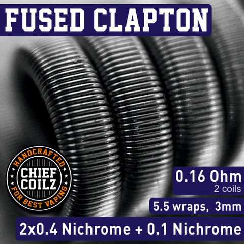CHIEF COILZ Fused Clapton 0.16 Ohm (for RDA/RTA/RDTA) - Vaporello.com