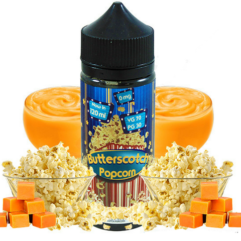 Fizzy BUTTERSCOTCH POPCORN 120ml - Vaporello.com