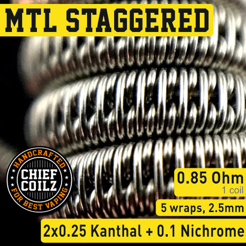 CHIEF COILZ MTL Staggered 0.85 ohm (for MTL)