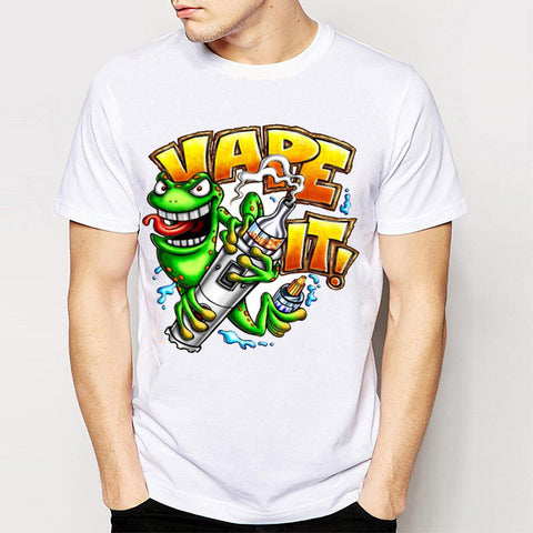 Funny Vaper Cotton Men's T-Shirt-Vape Fashion-Vaporello.com