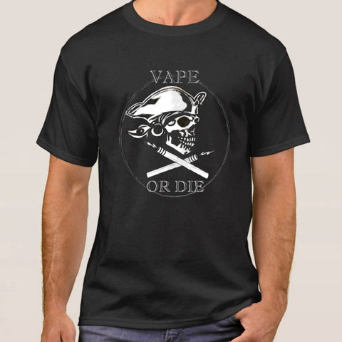 Vape or Die Cotton Men's T-Shirt-Vape Fashion-Vaporello.com