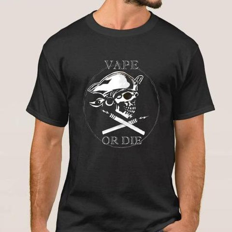 Vape or Die Cotton Men's T-Shirt - Vaporello.com
