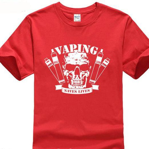 Vaping Saves Lives otton Men's T-Shirt-Vape Fashion-Vaporello.com