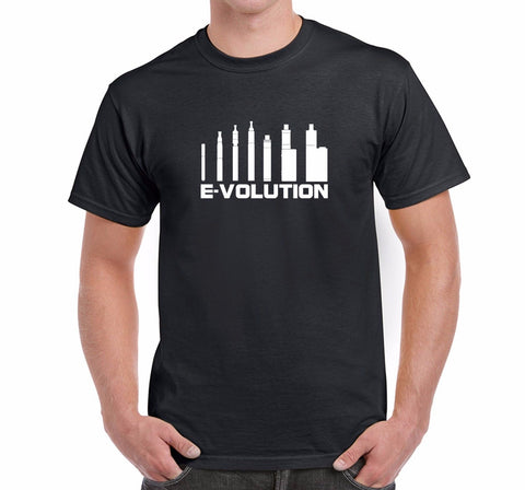 Evolution of Vaping Cotton Men's T-Shirt-Vape Fashion-Vaporello.com