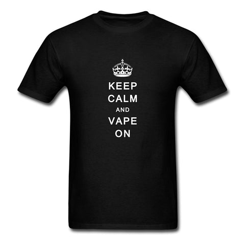 Keep Calm & Vape On Cotton Men's T-Shirt-Vape Fashion-Vaporello.com